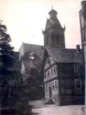 Jewish School, circa 1937.  Synagogue is located to the right of the school, and is not pictured.